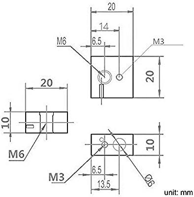 MadridGadgetStore® 5 Bloque Calentador MK7 MK8 para HotEnd ...