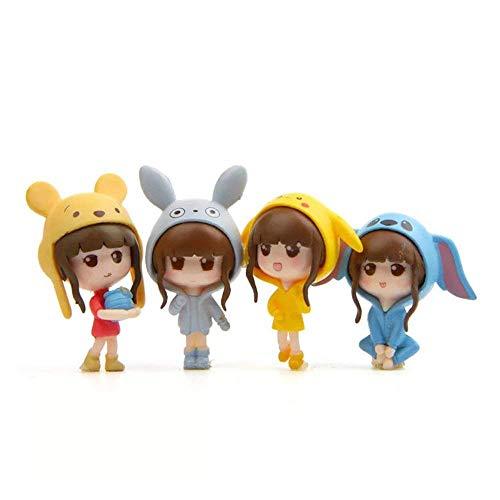 (LW 4 pcs (1 Set) Kawaii Girls Toys Figurines Playset, Garden Cake)