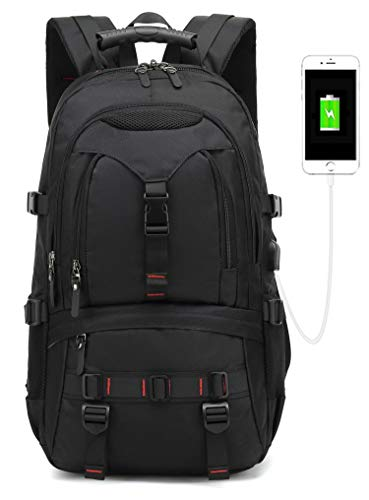 2019 New Model laptop backpack,anti theft Slim Durable with USB Charging Port backpack 17-inch business Travel school Computer backpack for men & Women college students bag(black)