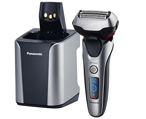 Panasonic ES-LT7N-S Arc 3-Blade Electric Shaver System with Premium Automatic Clean and Charge Station, Active Shave Sensor Technology, Wet or Dry Operation (Panasonic Charging Base)
