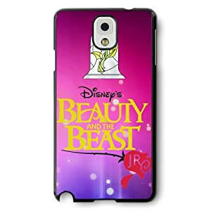 Disney Cartoon Beauty and The Beast, Hard Plastic Case for Samsung Galaxy Note 3 - Personalized Disney Note 3 Case - Black