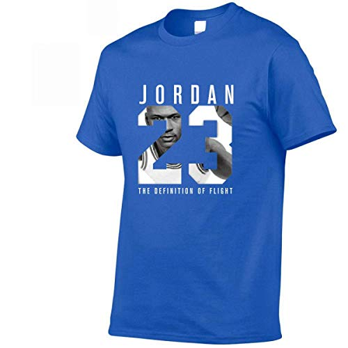 Jordan t Shirts Jordan 23 Men T-Shirt Swag T-Shirt Cotton Print Men T Shirt (M, Royal Blue)