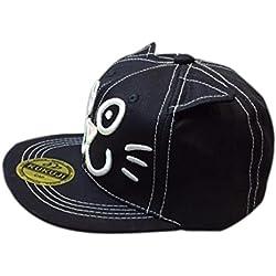 Voberry Unisex Baby Kids Boys Girls Fashion Cat Ears Hip Hop Baseball Hat (Black)
