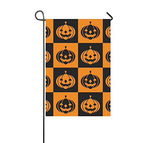 WBSNDB Home Decorative Outdoor Double Sided Halloween Icons Garden Flag,House Yard Flag,Garden Yard Decorations,Seasonal Welcome Outdoor Flag 12 X 18 Inch Spring Summer Gift -