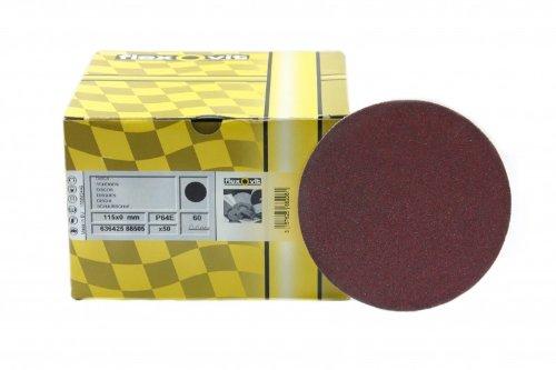 50 St/ück Flexovit Schleifscheiben klett 115 mm ohne Lochung Korn 80