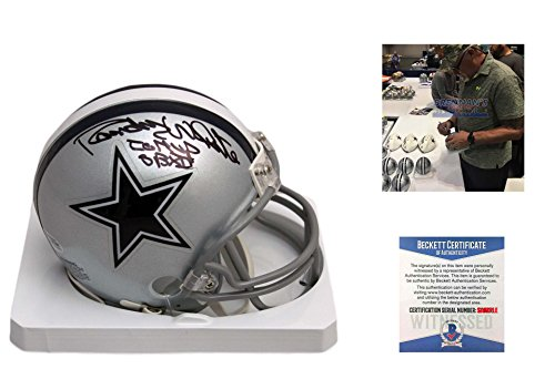 Randy White Signed Dallas Cowboys Mini Helmet w/ SB MVP - Beckett Autographed