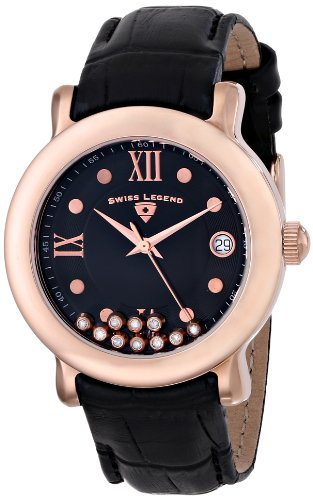 Swiss Legend Women's 22388-RG-01 Diamanti Analog Display Swiss Quartz Black Watch
