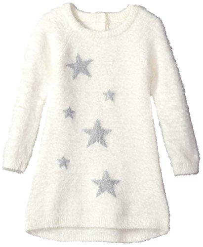 Crazy 8 Toddler Girls' Long Sleeve Fuzzy Sweater Dress, Snow Bunny, 4T -
