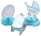 table centerpiece ideas Juvale Baby Shower Decorations - 6 Pieces Boy Theme Baby Shower Table Centerpieces Party Supplies, Blue