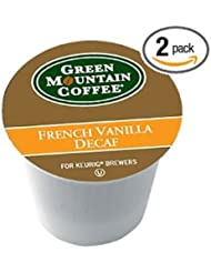 Green Mountain Coffee Decaf French Vanilla 24 Count K Cups For Keurig Brewers Pack Of 2