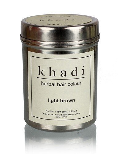 Khadi Herbal Light Brown Henna Hair Color - 150 ml