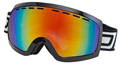 Dirty Dog 2013 DIRTY DOG medium-large ELEVATOR Ski Snow Goggles Black/ FIRE Fusion MIRROR - Uk Ski Goggles
