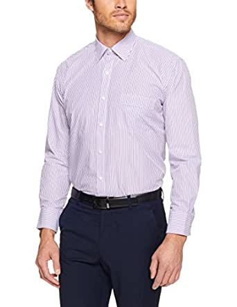 Van Heusen Classic Relaxed Fit Business Shirt, Mulberry, 39cm Collar x 86cm Sleeve