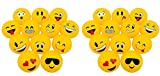 Novelty Treasures Set of 24 POPULAR Emoji Inflatable Beach Balls (12'') Party Supplies