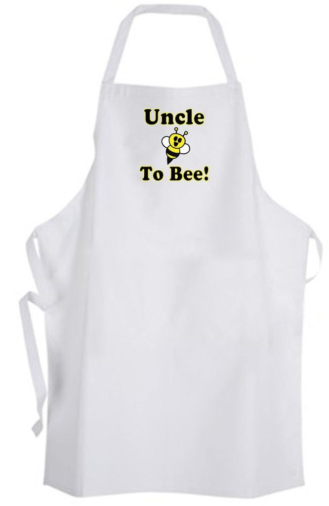 Uncle To Bee! Adult Size Apron - Cute Love Funny Humor New Baby Wedding