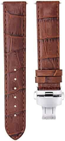 5dc8e91c9 22MM LEATHER WATCH STRAP BAND FOR BAUME MERCIER CLASSIMA 8692, 8733 L/BROWN  T