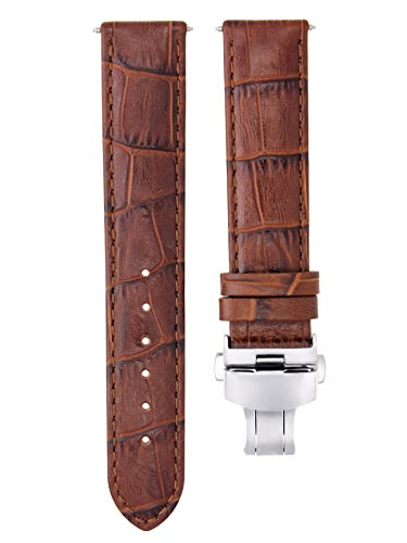 Ewatchparts 18MM Leather Watch Strap Band for BAUME Mercier CAPELAND CLASSIMA 18/18 L/Brown #7