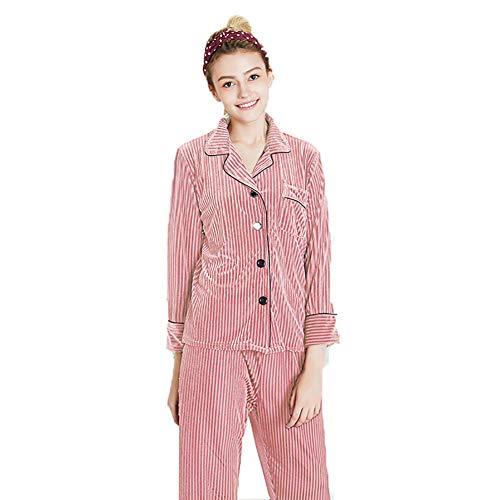Conjunto Informal Moda Camisón Linlin El xl Hogar Terciopelo M Mujer Juego En Piezas Pink L Dos Pijamas Oro Para De Servicio Xl red Ftwtvq8