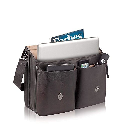 030918003312 - Solo Warren 16 Inch Leather Laptop Briefcase, Espresso carousel main 3