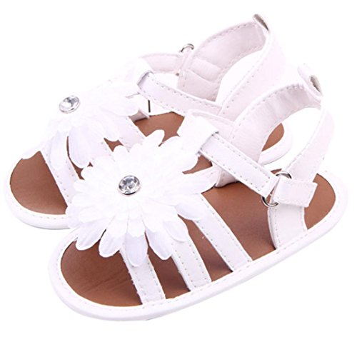 Gotd Toddler Kids Baby Cute Solid Peony Flower Sandals Newborn Shoes (US:3.5 0~6 Month L:4.7