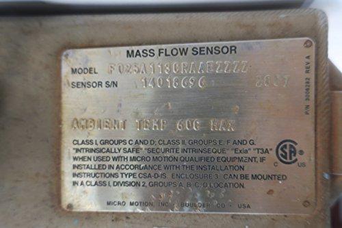 Micro Motion F025A113CRAAEZZZZ Mass Flow Sensor D597554