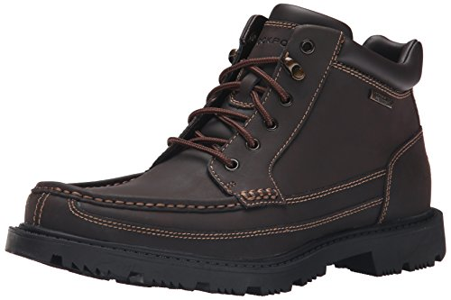 Rockport Men's Redemption Road Waterproof Moc Toe Boot- Dark Brown-7.5 W (Toe Rockport Moc)