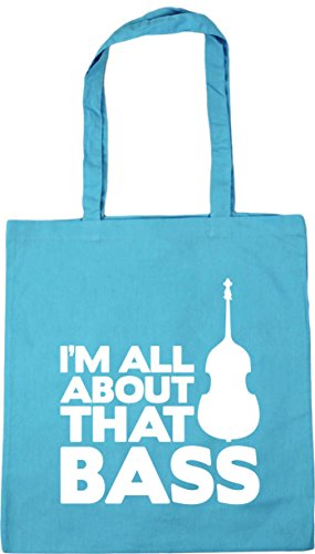 x38cm Bass litres Tote Double Bass 10 Beach Surf HippoWarehouse I'm That About All Shopping 42cm Bag Gym Blue Z0YcOqxw