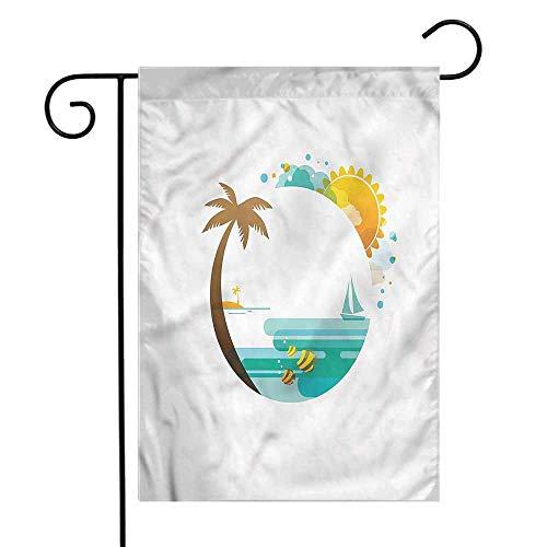 WinfreyDecor Beach Garden Flag Tropic Paradise Summer Premium Material 12