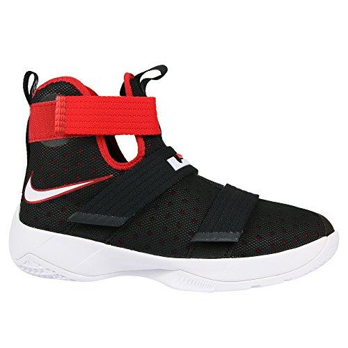 Nike Lebron Soldier 10 (GS), Scarpe da Basket Uomo Nero (Nero / Bianco-rosso Università)