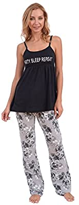 Body Candy Women's 2 Piece Tank Top and Floral Pant Pajama Set