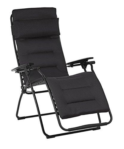 Lafuma LFM3120-6135 Futura Air Comfort Folding Recliner, Acier (Furniture Lafuma Patio)