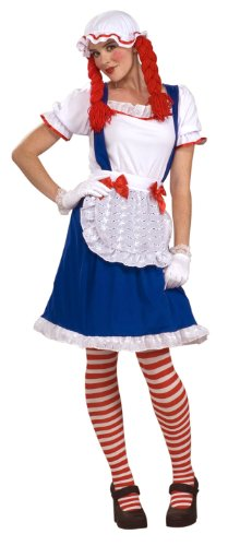 Raggedy Andy Costume Baby - Forum Rag Doll Costume, Blue/Red, One Size