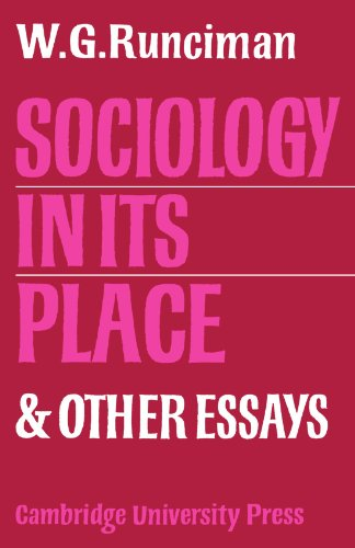 Sociology In Its Place