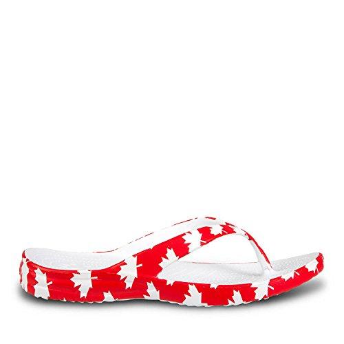 Beach Flip Red Mens White Support DAWGS Canada Arch Flops P4aq7Ww5