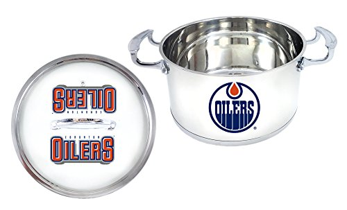 NHL Edmonton Oilers 5 Qt Stainless Steel Chili Pot