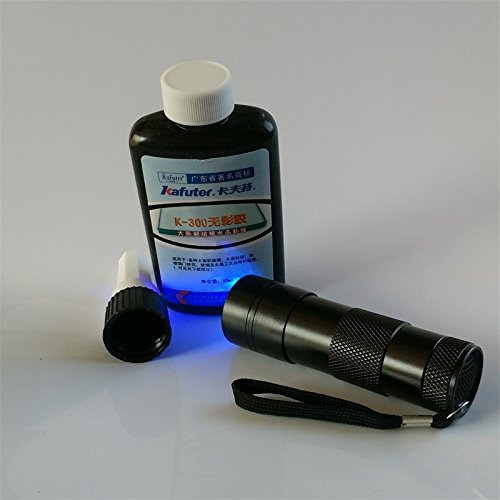 Kafuter 50G K-300 UV Glue+UV Flashlight Bonding Large Area Glass Crystal