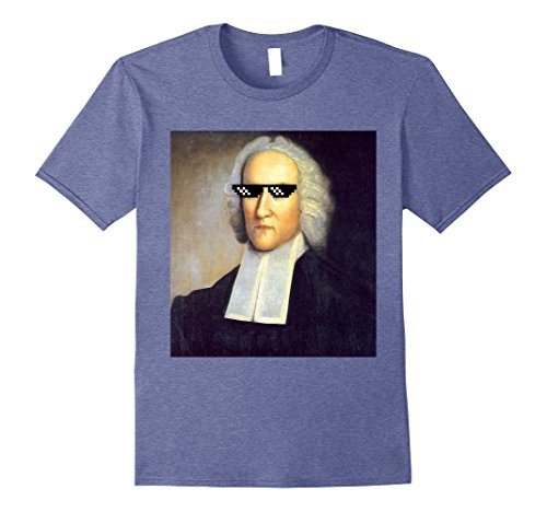 Mens Funny Jonathan Edwards Theology Sunglasses Meme Shirt Small Heather - Small Sunglasses Meme