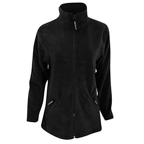 Frontale Giacca Pile In Nero Grizzly Con Zip Donna R1XpwxqfW