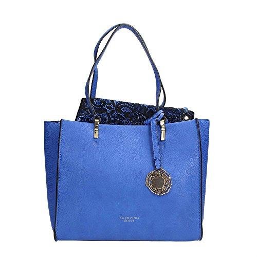 Scervino Street Scbpu0000242 Sac à main pour femme en simili cuir bleu
