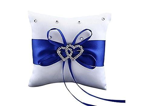 Driverder Cojín para anillo de boda, diseño de corazón doble ...