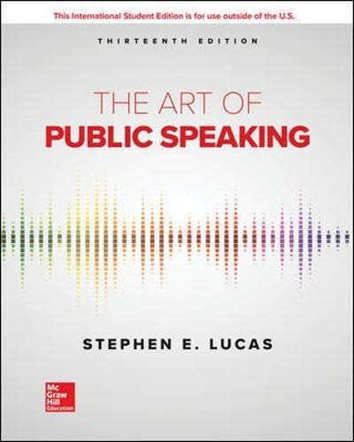The Art of Public Speaking (International Edition)