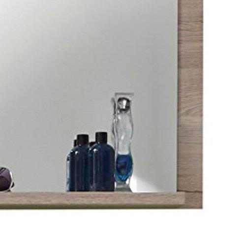 Trendteam Trendteam Trendteam smart living Badezimmer Wandspiegel Campus, 60 x 75 x 15 cm in Weiß, Eiche San Remo (Nb.) mit Ablagefläche bde480