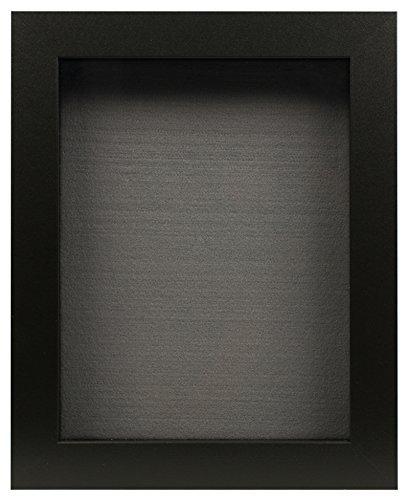 Golden State Art, Black Shadow Box Frame Display Case, 2-inch Depth, 8 x 10.5 inch (Black)