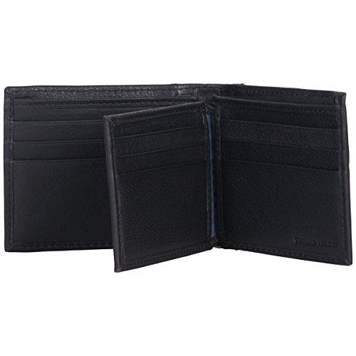 Fold Pocket Nine with Brown Men's Sherman Ben RFID Id Window Bi Black Wallet Leather Passcase qzYIxw0B