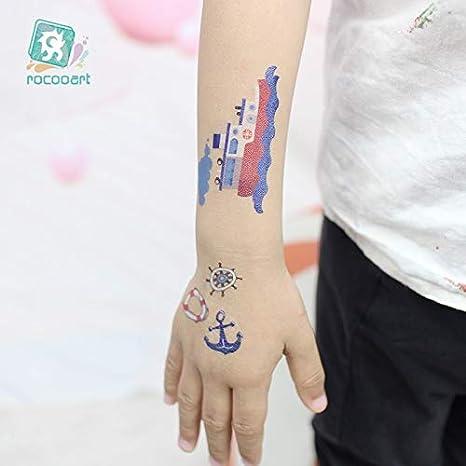 HXMAN 7uns Dibujos Animados Niño Tatuaje Vehículo Temporal Tatoo ...