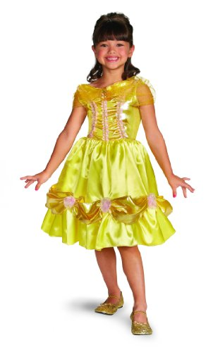 Disney Princess Girls Belle Classic Costumes (Disguise Disney Beauty and The Beast Belle Sparkle Classic Girls Costume, 4-6X)