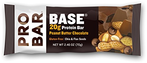 Peanut Blend (PROBAR - BASE 2.46 Ounce Protein Bar - Peanut Butter Chocolate - Organic, Gluten-Free, Non-GMO, Plant-Based Whole Food Ingredients, Omega-3s from Chia and Flax - Pack of 12 Bars)
