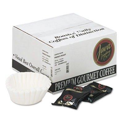 JAVA TRADING CO 308042 Coffee Portion Packs, 1.5oz Packs, French Roast, (Java Trading Co . French Coffee)