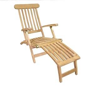 D-ART COLLECTION Teak Classic Steamer Chair
