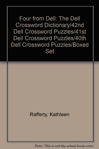 Four from Dell: The Dell Crossword Dictionary/42nd Dell Crossword Puzzles/41st Dell Crossword Puzzles/40th Dell Crossword Puzzles/Boxed (Bantam Crossword Dictionary)
